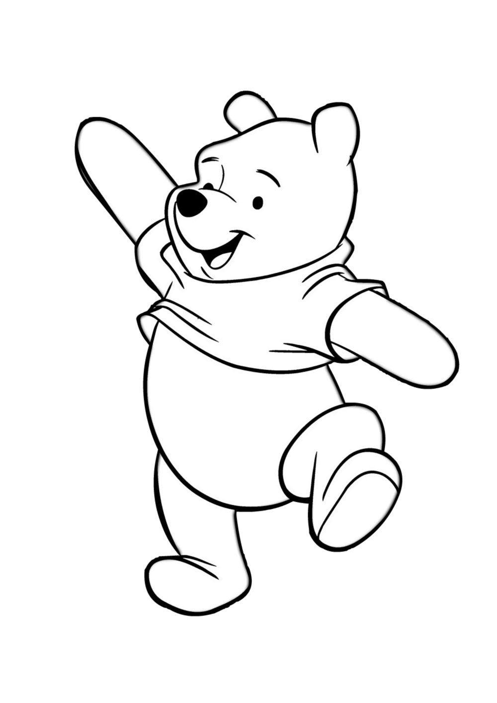 Winnie The Pooh Coloring Page Tv Series Coloring Page | PicGifs.com | 1415x1000