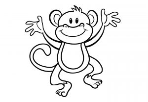 Dancing Monkey Coloring Pages