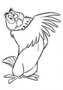 Disney Winnie the Pooh Owl Coloring Pages
