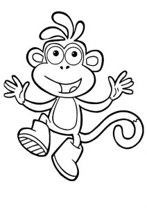 Dora Boots Monkey Coloring Pages