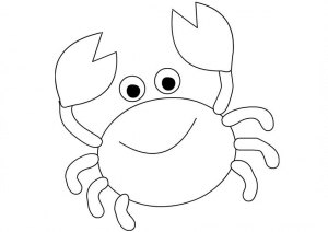 Easy Cartoon Crab Coloring Pages