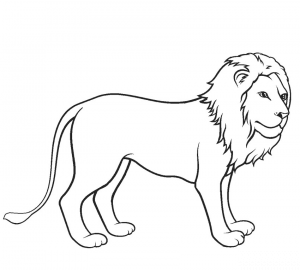 Easy Lion Coloring Pages for Kids
