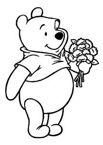 Easy To Color Winnie the Pooh Coloring Pages