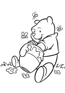 Funny Looking Winnie the Pooh Coloring Pages