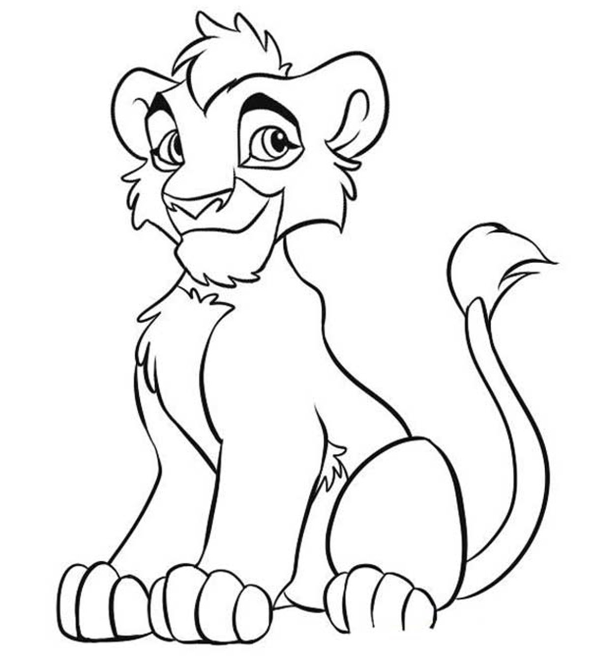 Kovu Lion King 2 Lion Coloring Pages - Print Color Craft