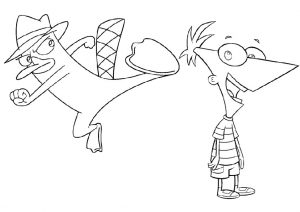 Perry the Platypus and Phineas Ferb Coloring Pages