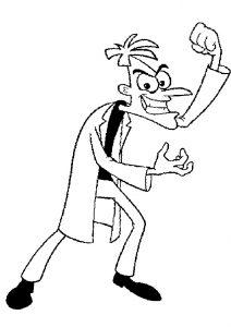 Phnieas and Ferb Heinz Dr Doofenshmirtz Coloring Pages