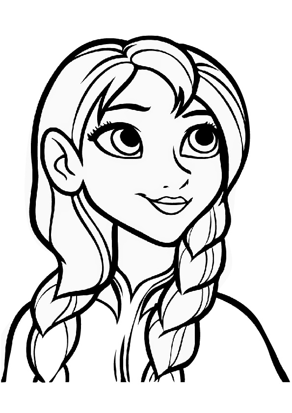 Princess Anna Frozen Free Printable Coloring Pages