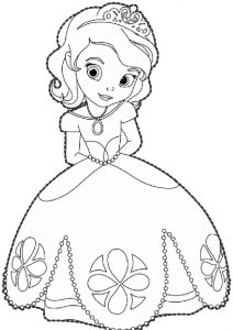 Princess Sofia The First Coloring Pages Disney Series