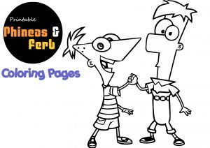 Printable Phineas and Ferb PDF Coloring Pages Print and Color