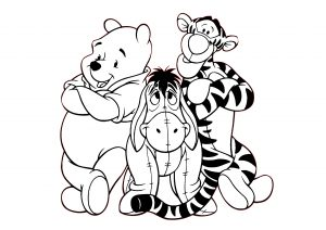 Tigger Winnie the Pooh Eeyore Donkey Coloring Pages