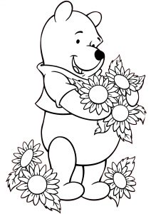 Walt Disney Printable Winnie the Pooh Coloring Pages Easy to Color