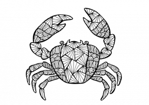 Zentangle Crab Coloring Pages