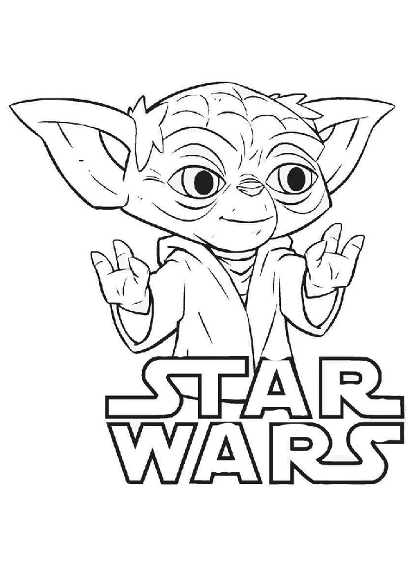 Baby Yoda Star Wars Coloring Pages Print Color Craft