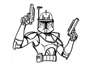 Captain Rex Commander Rex Star Wars Coloring Pages Clone Wars Captain Rex