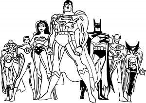 Classic Justice League Superman Batman Coloring Pages