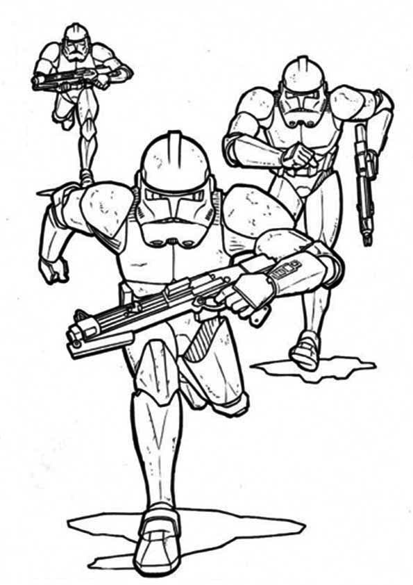 Clone Tropper Star Wars Coloring Pages Republic soldiers ...