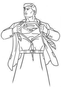 Coloring Pages of Clark Kent to Superman