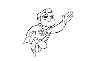 Cute Baby Superman Coloring Pages
