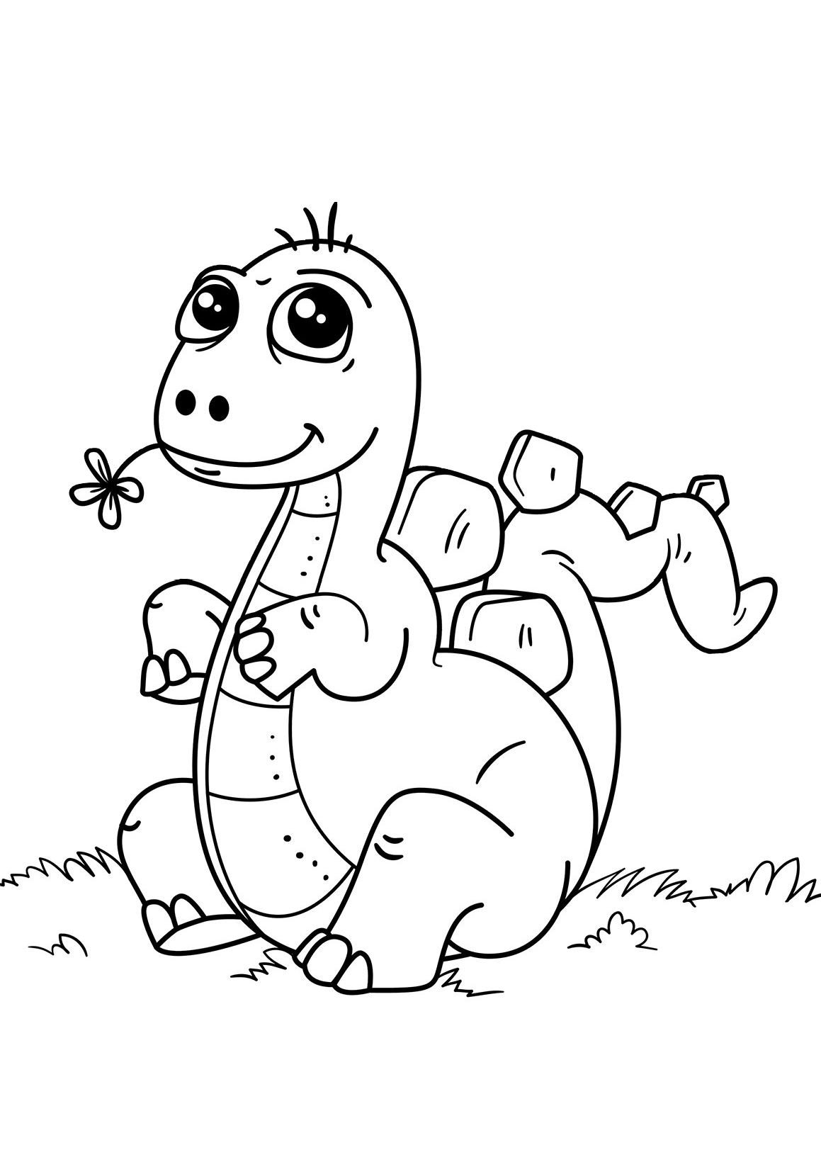 Cute Dinosaur Coloring Pages Really Cute looking Dino