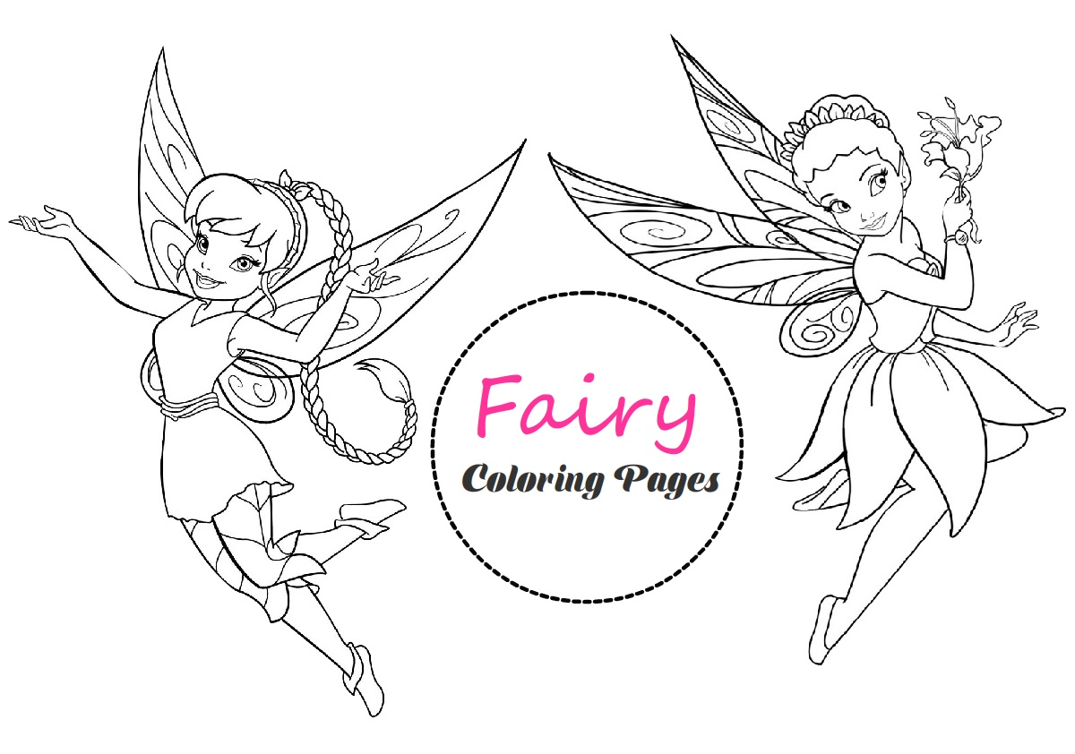 Cute Fairy Coloring Pages Book