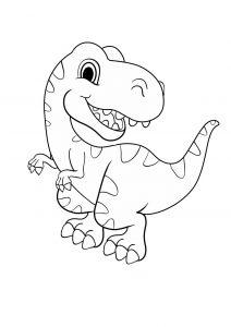 Dinosaur Coloring Page Trex