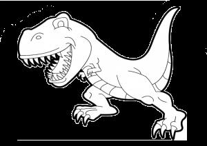 Easy Dinosaur Printable Coloring Page