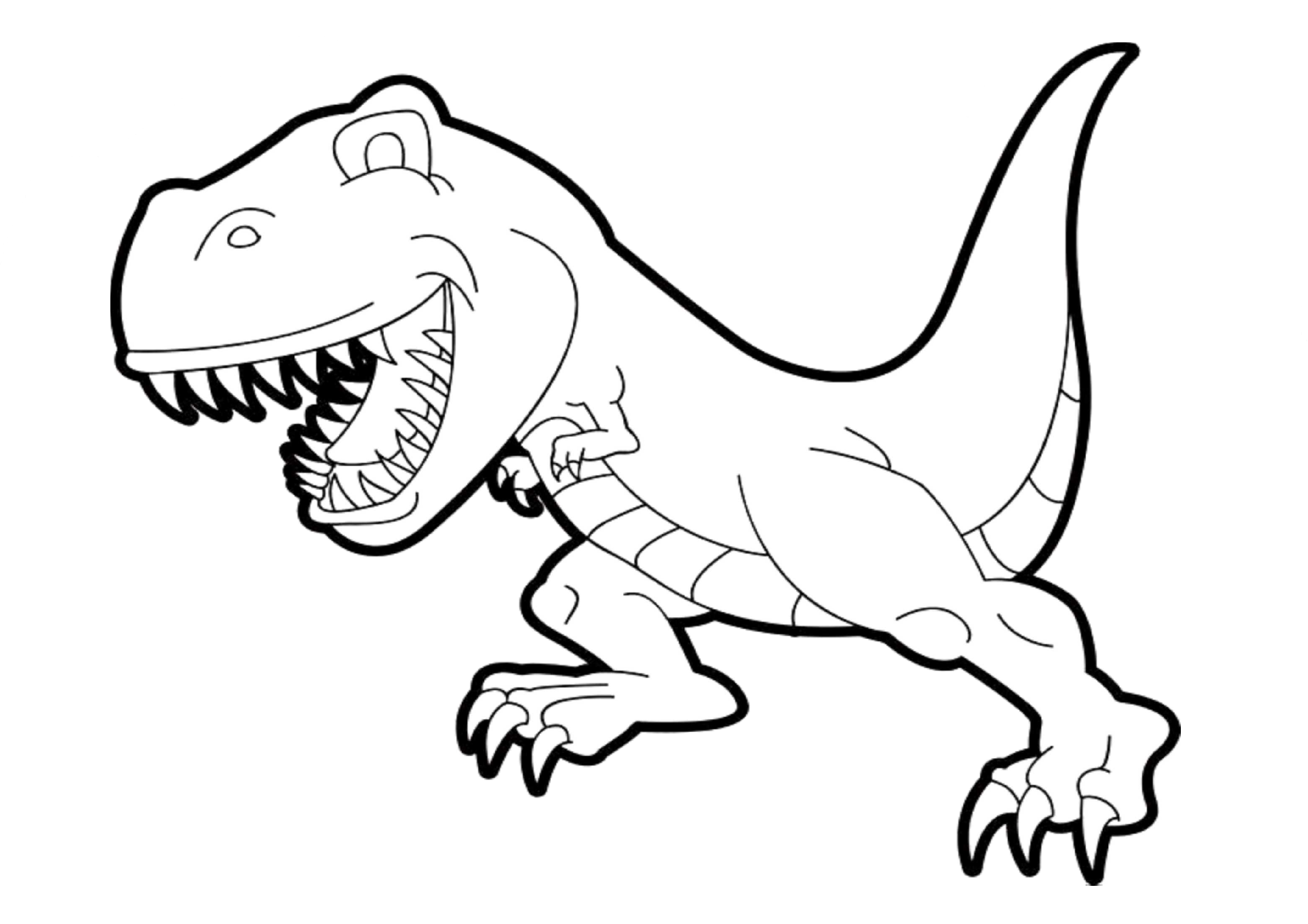 Easy Dinosaur Printable Coloring Page