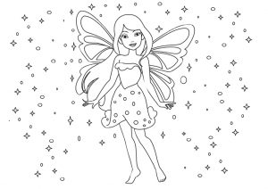 Easy Fairy Drawing Coloring Pages