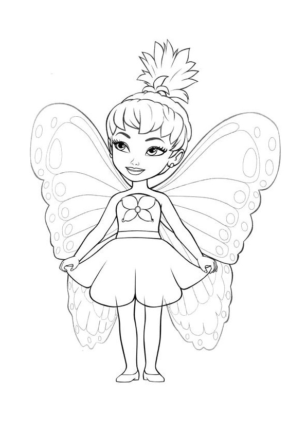 Fairy with innocent and sweet eyes coloring pages