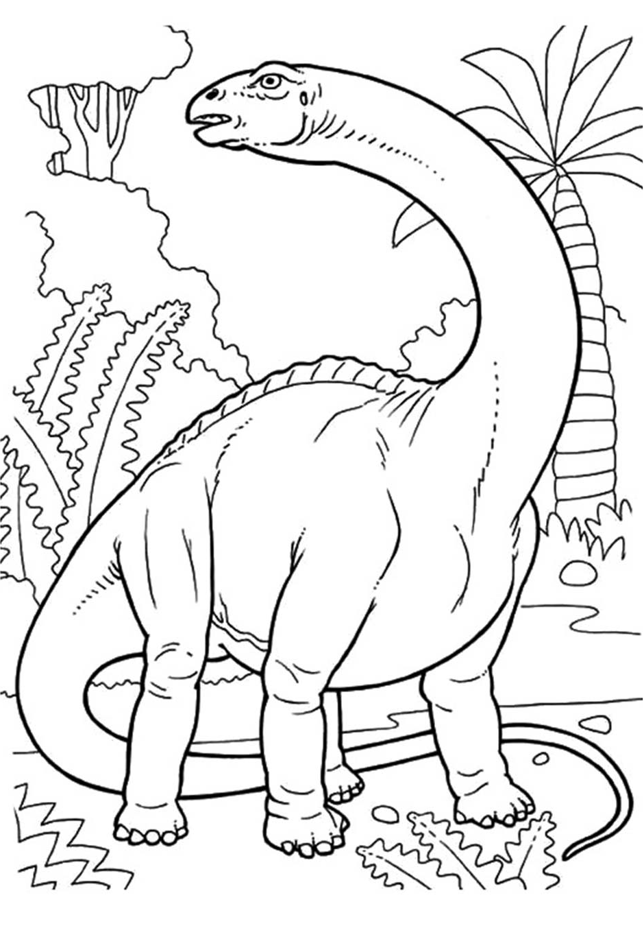 Free Printable Dinosaur Coloring Pages Plant Eating Dinosaur Herbivores