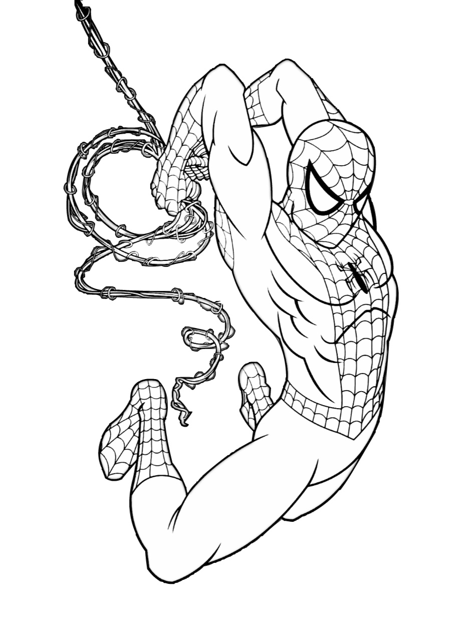 Free Printable Spiderman Easy Coloring Pages