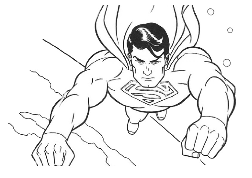 Free Printable Superman Coloring Pages