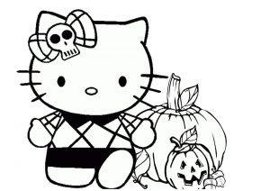 Halloween Costume Carved Pumpkin Trick or Treat Hello Kitty Coloring Pages