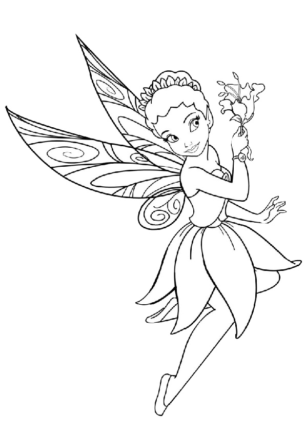 Iridessa Tinkerbell Light Fairy Coloring Pages