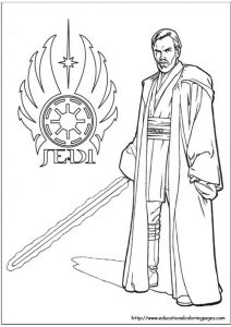 Jedi Star Wars Coloring Pages Member of the Jedi Order