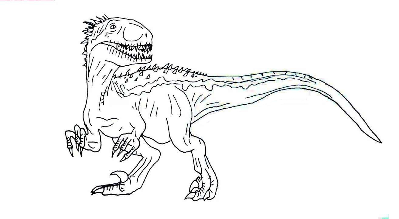 Jurassic World Movie Indoraptor Coloring Pages