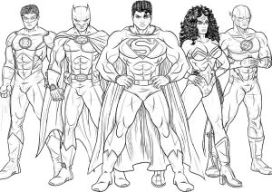 Justice League Superheroes Coloring Pages