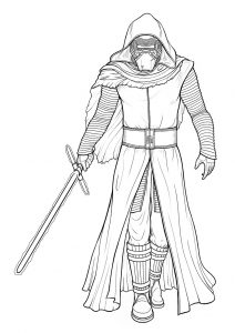 Kylo Ren Star Wars Coloring Pages Dark Warrior Coloring