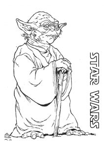 Master Yoda Star Wars Coloring Pages Wise Powerful Legendary Jedi Master