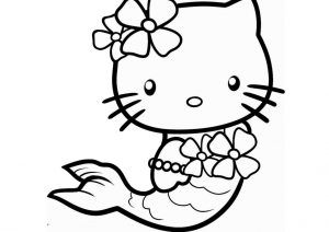 Mermaid Hello Kitty Coloring Pages