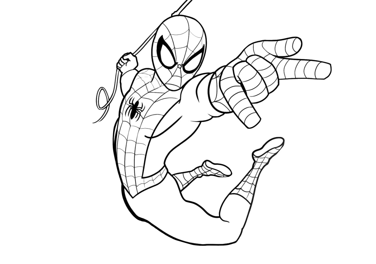 Mighty Spiderman Printable Coloring Pages