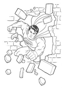 Mighty Superman Coloring Pages