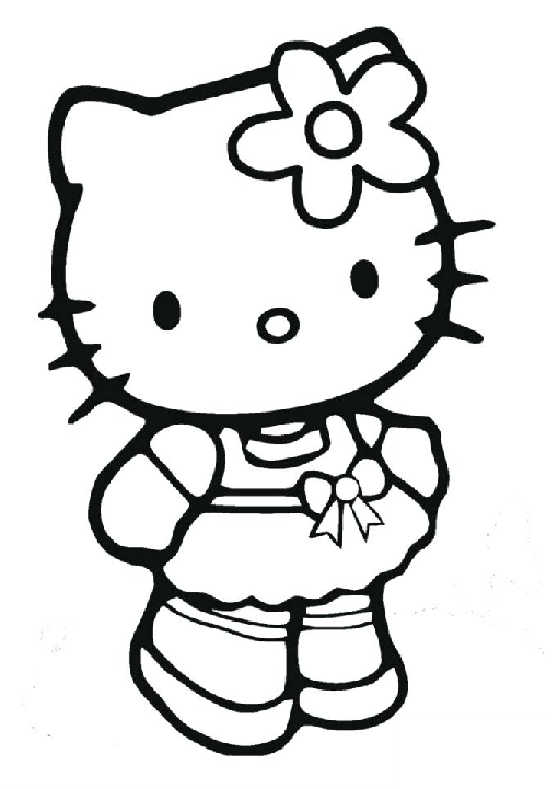 Preschooler Toddler Hello Kitty Coloring Pages