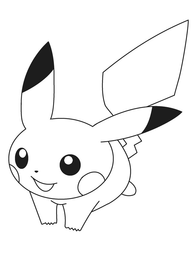 Smiling Pokemon coloring pages for kids, printable free ... | 842x650