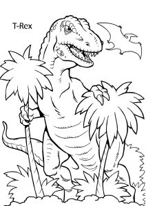 Printable Dinosaur Coloring Pages Prehistoric Reptile Colouring Sheet