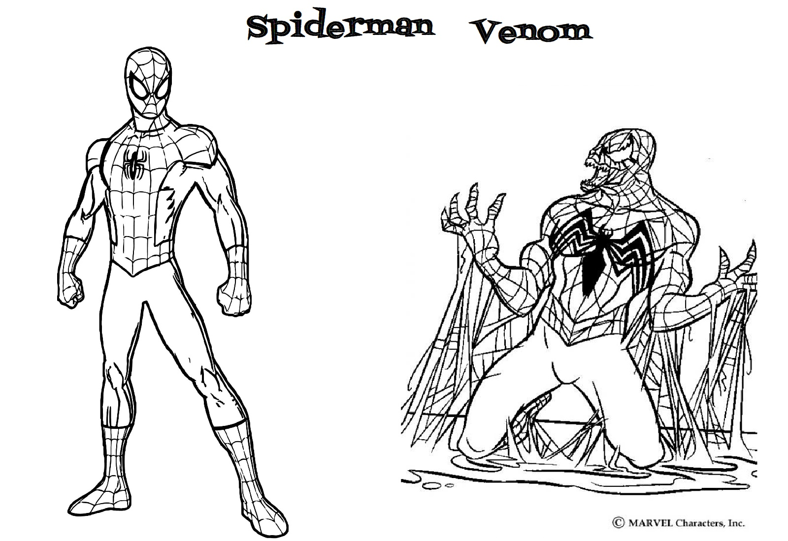 Spiderman Venom Coloring Page - Print and Color Pages