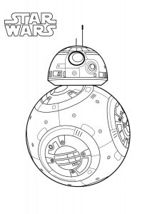 Star Wars BB8 Coloring Pages BB8 Loyal Astromech