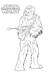 Star Wars Chewbacca Coloring Pages Chewbacca Wookiee military leader planet Kashyyyk