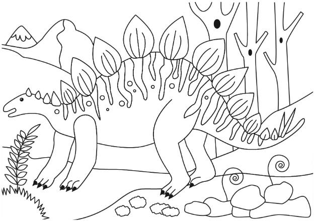 Stegosaurus Dinosaur Coloring Page